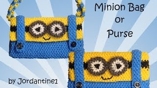 New Minion Bag / Purse / Pencil Case  - Loomigurumi / Amigurumi - Rainbow Loom - Hook Only - Crochet
