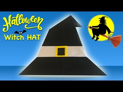 Make Paper WITCH HAT for Halloween (2018) 🧙 Easy DIY Paper Crafts 🧙 [4K]
