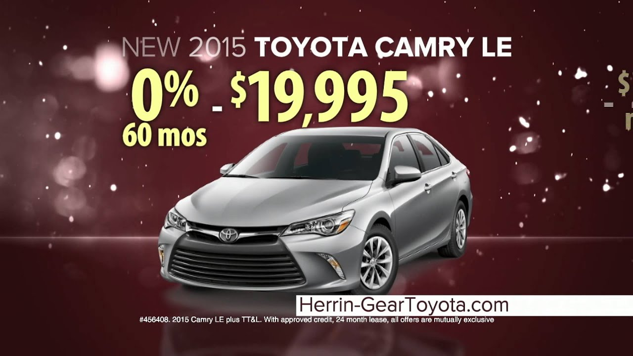 herrin gear toyota camry may specials youtube