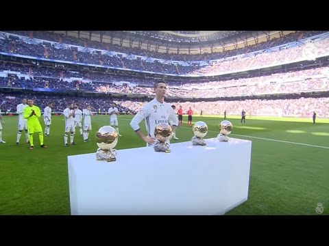 Cristiano Ronaldo Offers His Fourth Ballon D'Or To The Bernabéu!