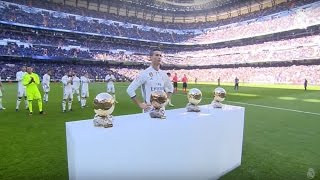 Cristiano Ronaldo offers his fourth Ballon d'Or to the Bernabéu!