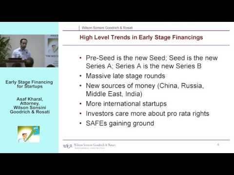 9.09.15 - Early Stage Financing for Startups, Asaf Kharal