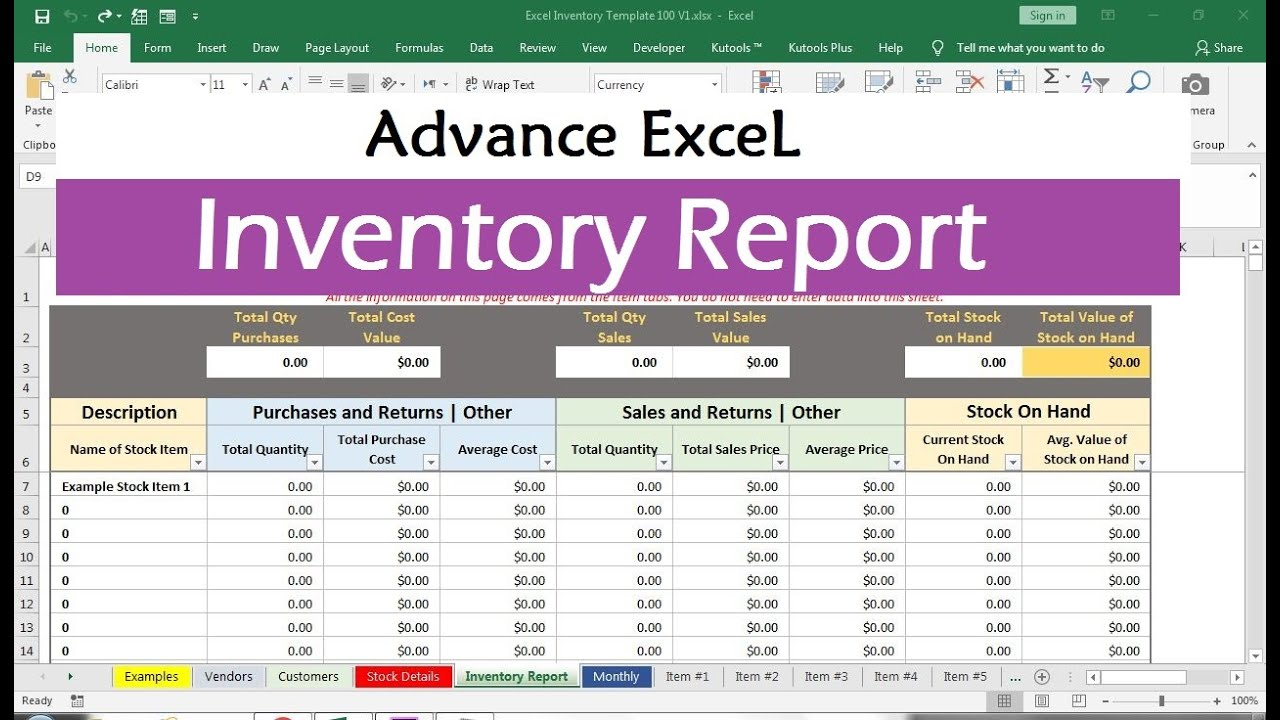 Inventory management templates are ready to use templates in excel, google sheets, and open office calc that help you to manage and track your inventory. Inventory Management Excel Formulas Youtube