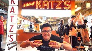 নিউইয়র্কে মাংসে ঠাসা সেনডুইচ - Katz's Delicatessen - HEAVEN OF PASTARAMI SANDWICH IN NEW YORK - USA