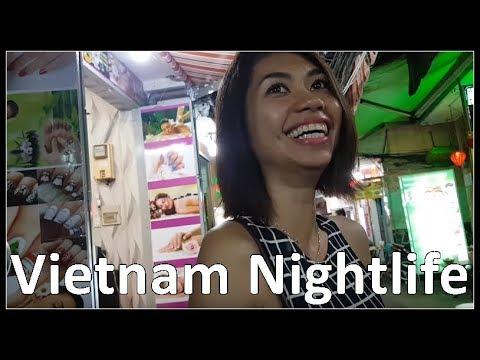 Vietnam Nightlife, Girly Bars, Walk in Bui Vien Street / Backpacker Area, October 2017