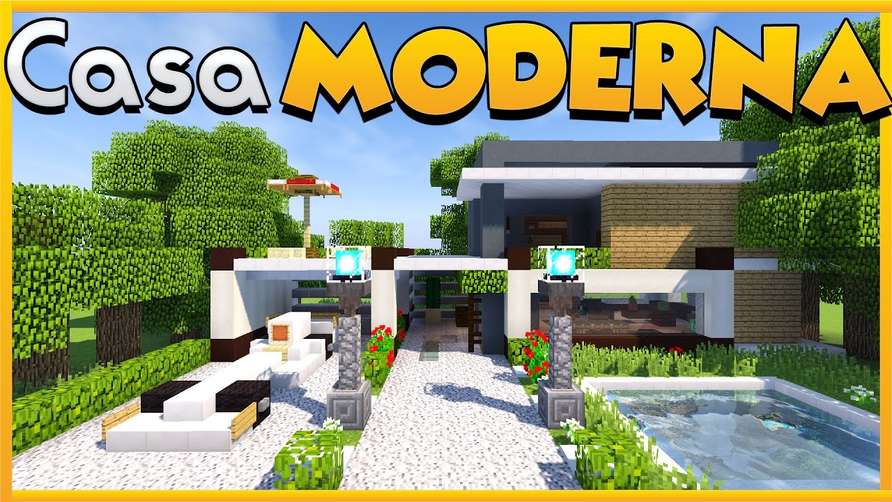 Come costruire una casa moderna su minecraft youtube for Come costruire una casa pueblo