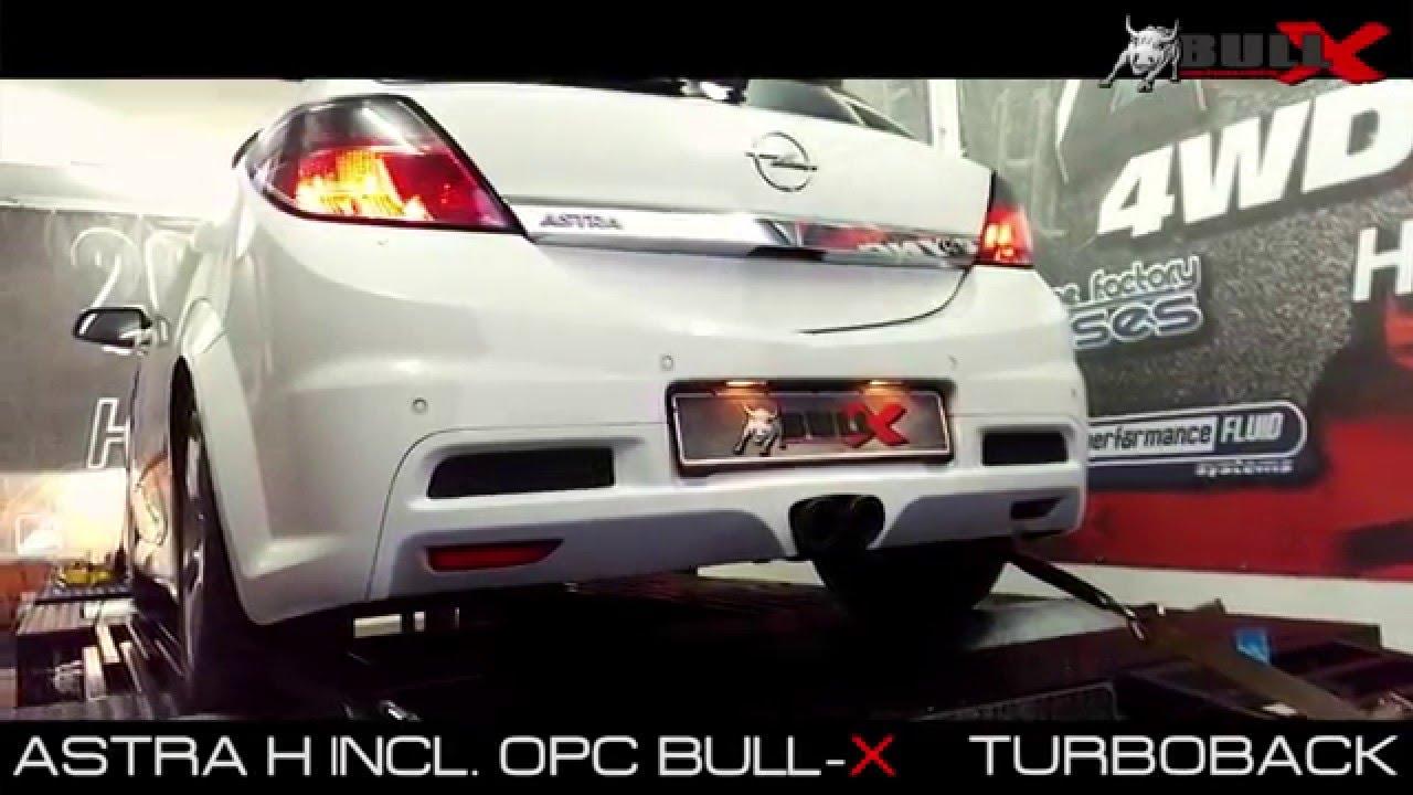 Opel Astra H Incl Opc Exhaust Sound 76mm 3 Auspuff Sportauspuff Abgasanlage By Bull X Exhausts