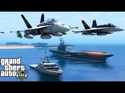 GTA 5 Fleet Week 2017 | United States Navy, Marines & Coast Guard Perform Fly Overs Parade Of Ships