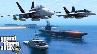 GTA 5 Fleet Week 2017 | United States Navy, Marines & Coast Guard Perform Fly Overs Parade Of Ships