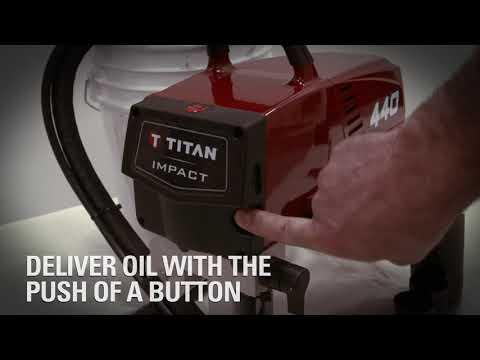 Titan IMPACT Sprayer Auto Oiler in 21 Seconds
