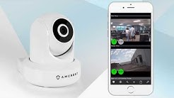 Connecting Amcrest Wifi IP Camera to Live Cams Pro App