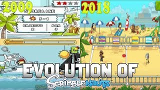 Graphical Evolution of Scribblenauts (2009-2018)