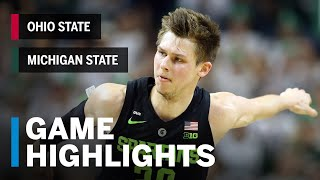 Highlights: Ohio State at Michigan State | Big Ten Basketball