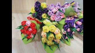 Подарок на 8 МАРТА своими руками.Букет из Тюльпанов / Gift for MARCH 8 with your own hands.