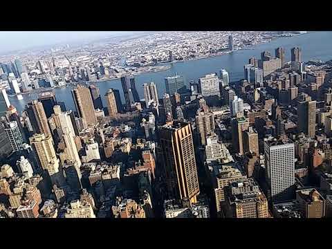 Mirado a Newyork del Empire state building