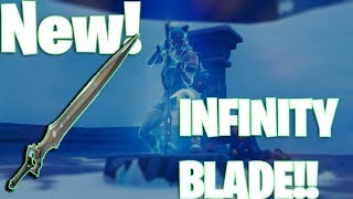 NEW FORTNITE INFINITY BLADE IS INSANE! GAMEPLAY FOOTAGE AND INFO!