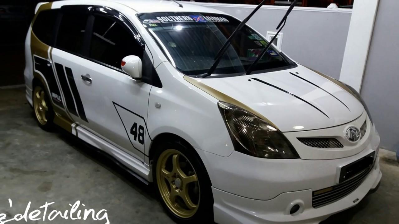Nissan grand livina impul 1 8a car polish polish kereta pasir gudang johor