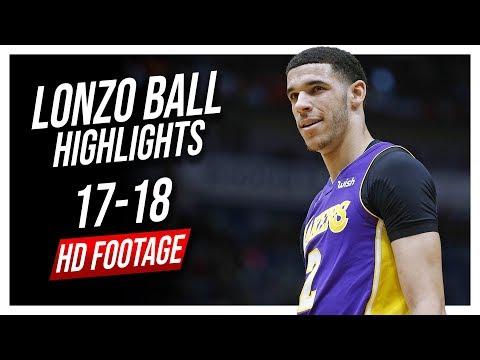 Lakers PG Lonzo Ball 2017-2018 Season Highlights ᴴᴰ