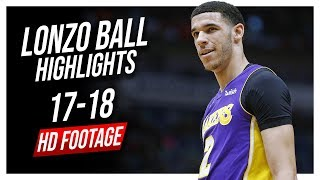 Lakers PG Lonzo Ball 2017-2018 Season Highlights ᴴᴰ