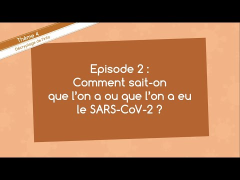 Comment sait-on que l'on a ou que l'on a eu le SARS-CoV-2 ? | Diffusons la science