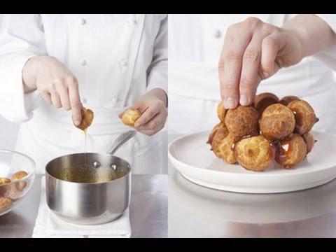 Technique de cuisine : coller des choux avec du caramel