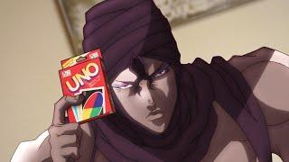 Jojo's Bizarre Uno Game - Battle Tendency (JJBA in real life)