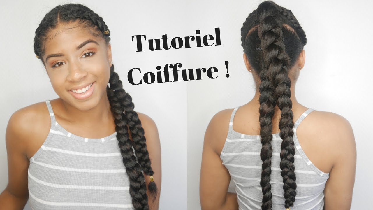 TUTO COIFFURE CHEVEUX BOUCLES ! 2 BRAIDZ ON FLEEK