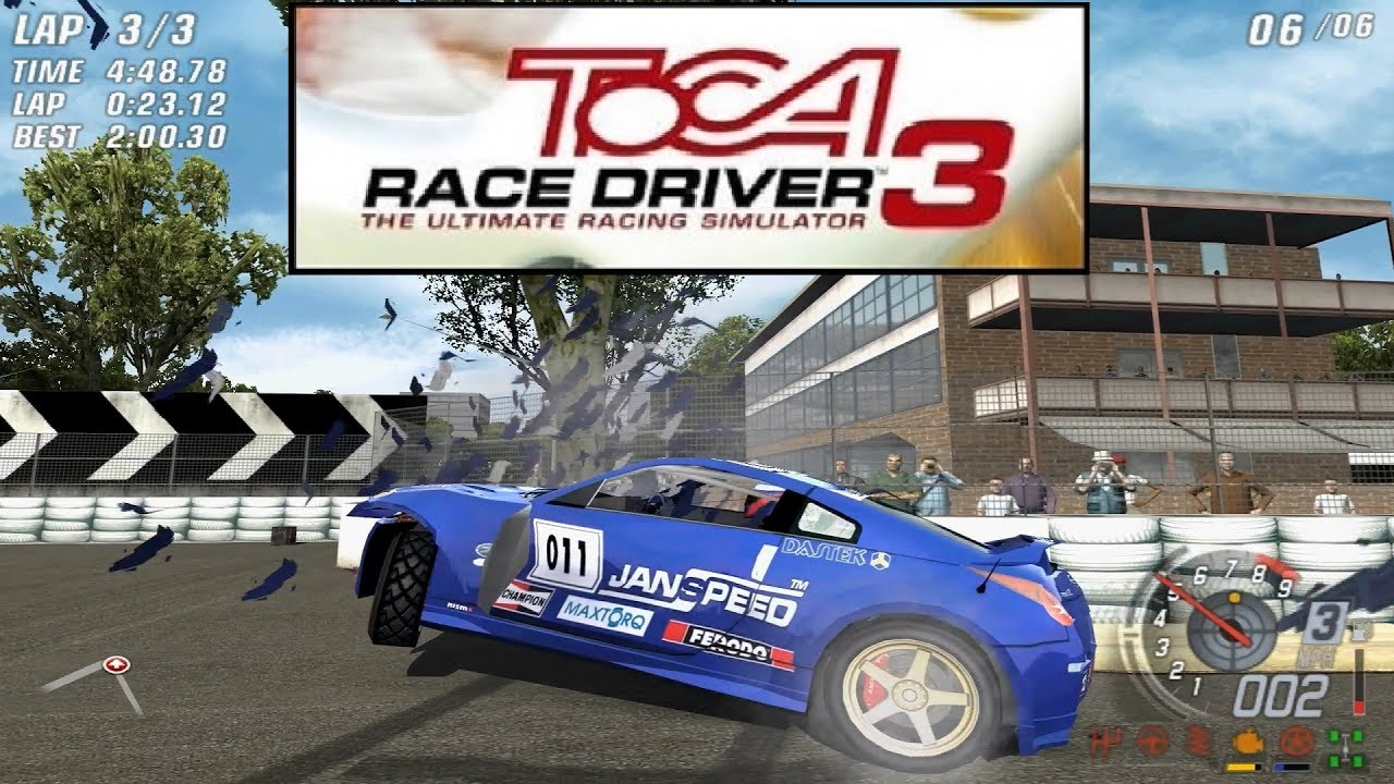 Toca Race Driver 3 gameplay PC, online crashes and racing incidents