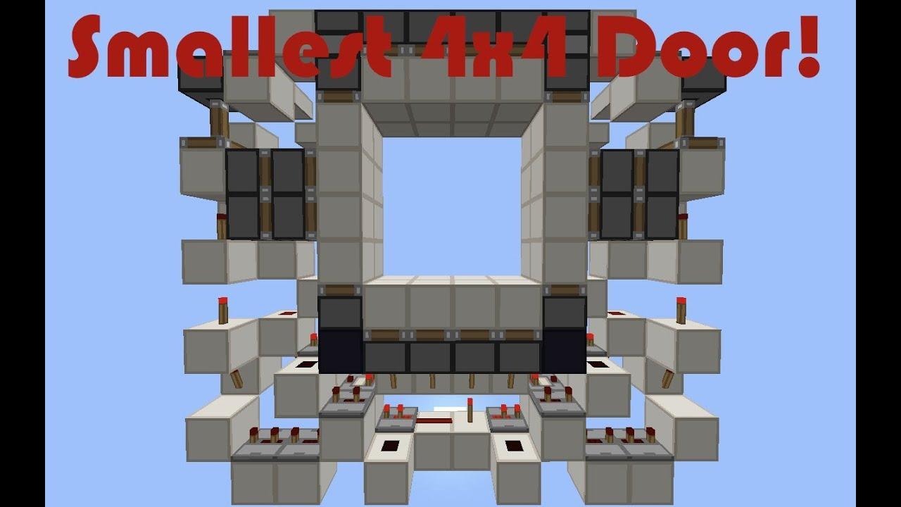 [Showcase] Smallest 4x4 Piston Door in Minecraft! (12x2x11)
