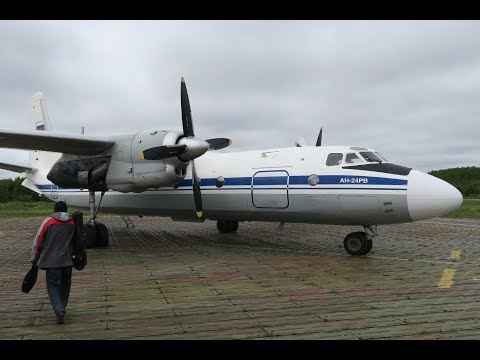 Перелет Соловки - Санкт-Петербург на Ан-24 (Турухан)