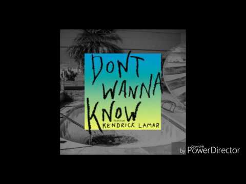 Don't Wanna Know by Maroon 5 with Kendrick...