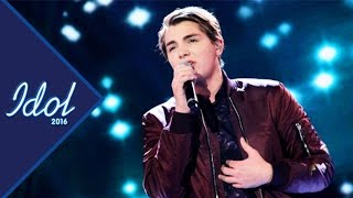 Repeat youtube video Oskar Häggström - What hurts the most | Idol Sverige 2016 (TV4)