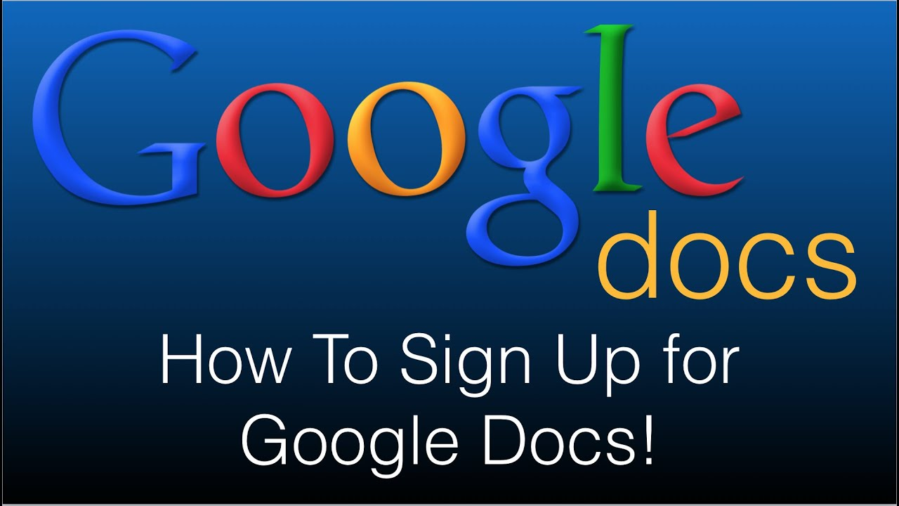 How To Sign Up for Google Docs   30 Free 30