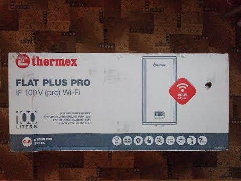 Обзор электрического водонагревателя Thermex Flat Plus Pro IF 100V (pro) Wi-Fi