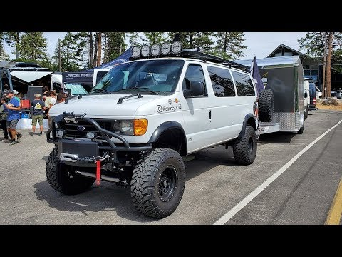 Ultimate 4x4 Van Ford Econoline E-350 6.0L TurboDiesel With 8 Inch Lift & Go Pro Solar Power