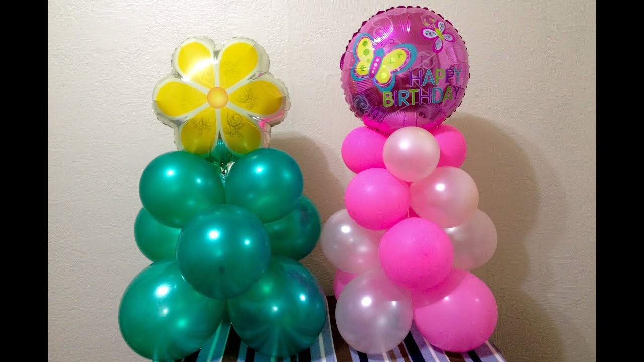 Easy dollar store balloon decor youtube for Balloon decoration making