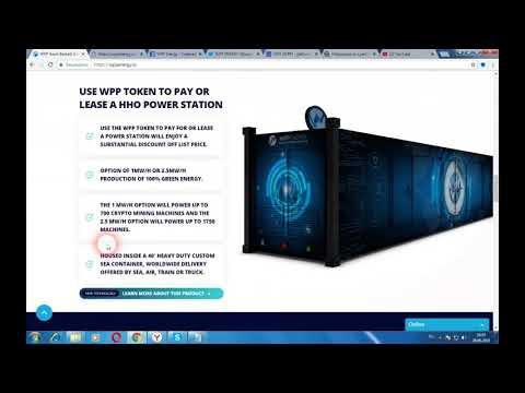 WPP ENERGY - платформа по аренде электростанций на основе блокчейн