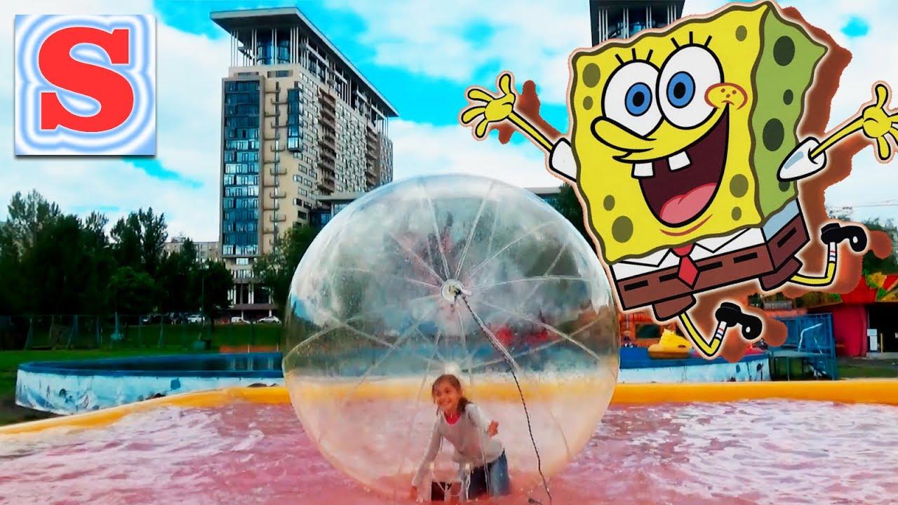 Огромный Шар и Супер Батут Детская Площадка Видео для Детей Игры Fun Video for Kids   супер развлекательная программа