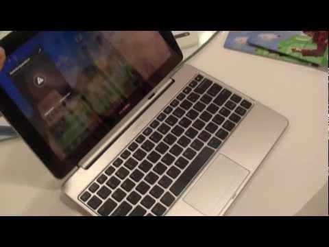 Huawei MediaPad 10 FHD Tastatur Dock Hands On auf der IFA