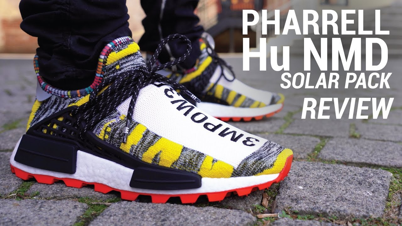 Pharrell Adidas Hu Nmd Trail Solar Review Giveaway Youtube