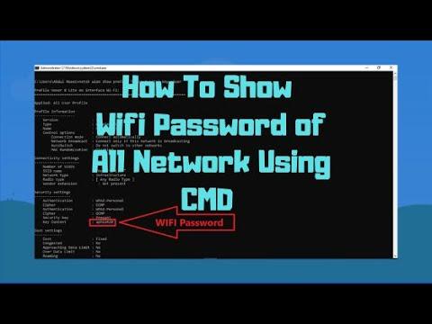 CMD : Show Wi-Fi Password | Windows XP/7/8/10