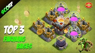 TOP 3 TH11 Farming Bases 2018 | CoC Town Hall 11 DE Farming Protection Base & Loot Protection