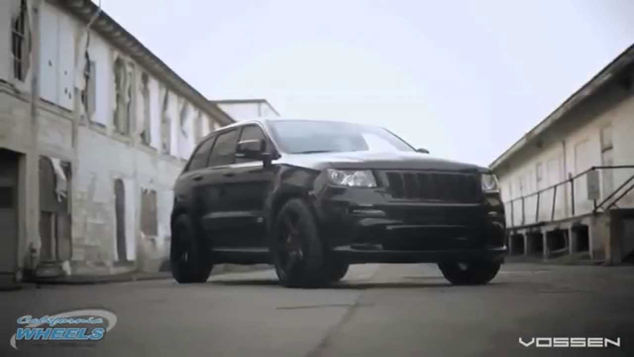 2011 Jeep Grand Cherokee >> 2015 Grand Cherokee SRT8 with Black Vossen Wheels - YouTube