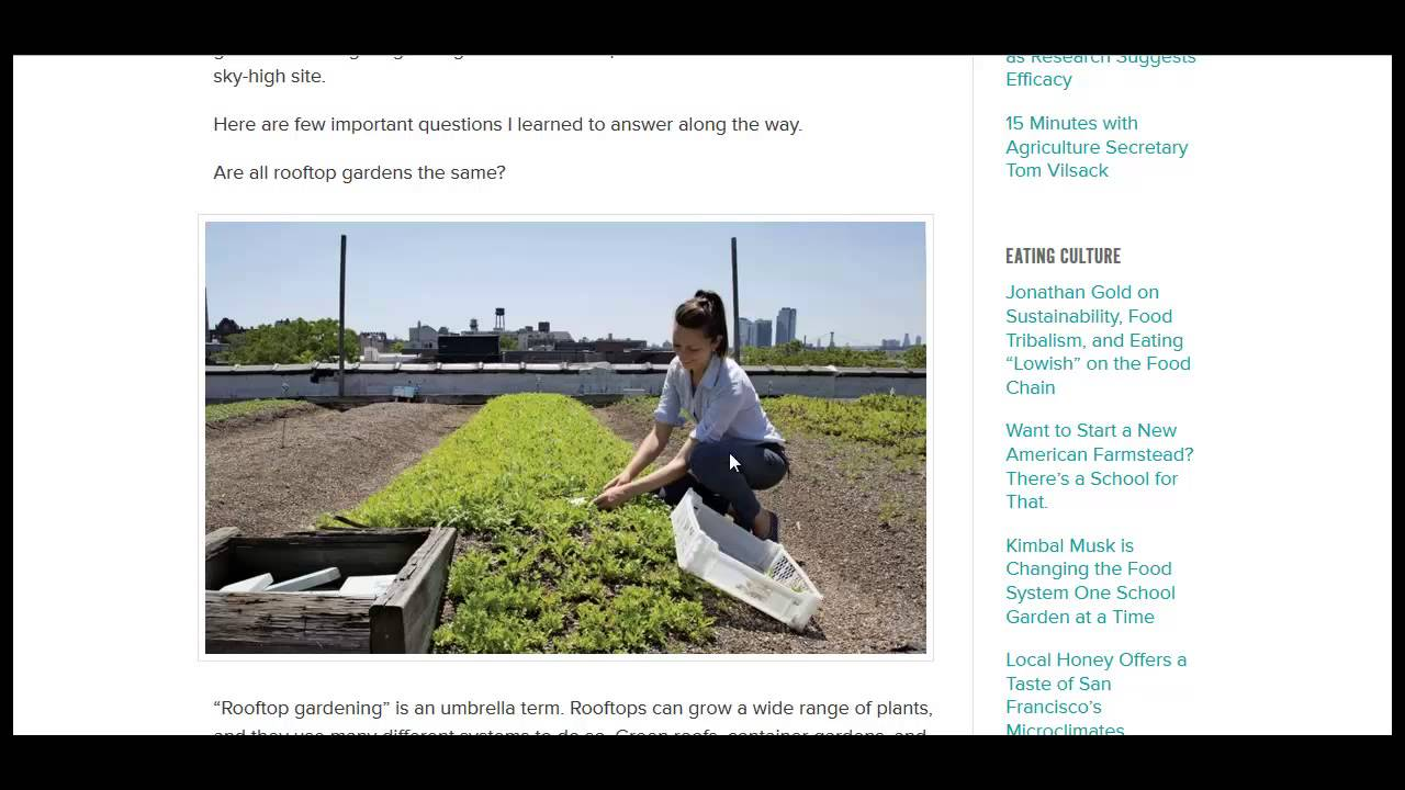 How to Build A Rooftop Garden - YouTube