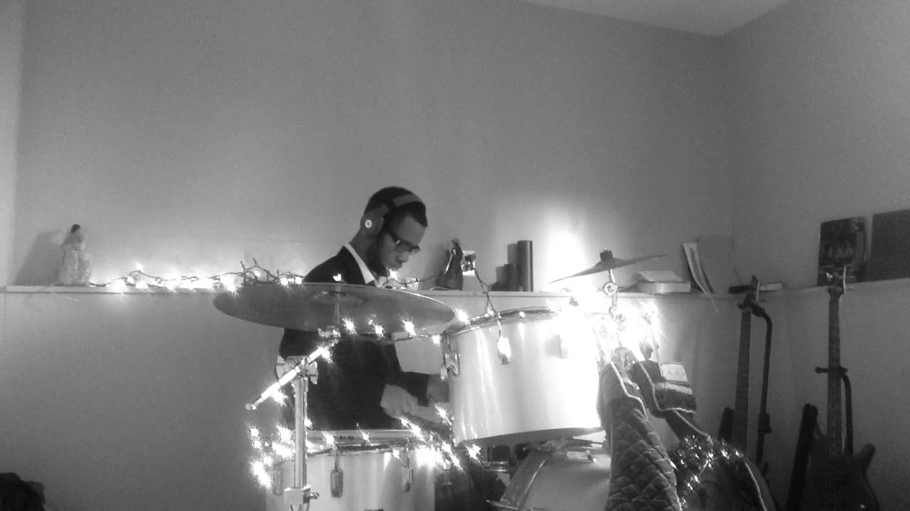 Drifters White Christmas.Clyde Mcphatter The Drifters White Christmas Drum Cover