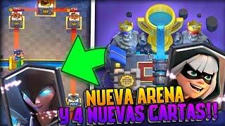 NUEVA ARENA LEGENDARIA Y 4 NUEVAS CARTAS!! | Clash Royale | Rubinho vlc