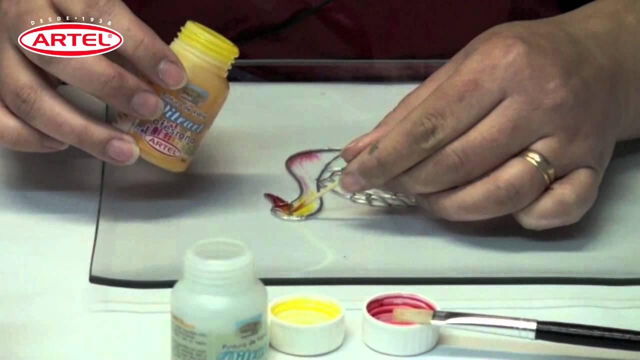 Tutorial Vitrart profesional Pintura para Vidrios Profesional Artel ...