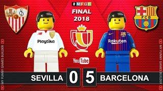 Copa del Rey Final 2018 • Sevilla vs Barcelona 0-5 • Goal Highlights in Lego Football Stop Motion