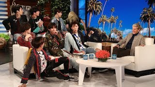 K-pop superstars BTS returned to Ellen to talk about dating, and go...