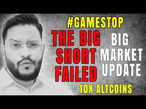 ⚠️ Massive Crypto Market Update. GameStop The Big Short Failed - WallStreet. 10x Altcoins For 2021.